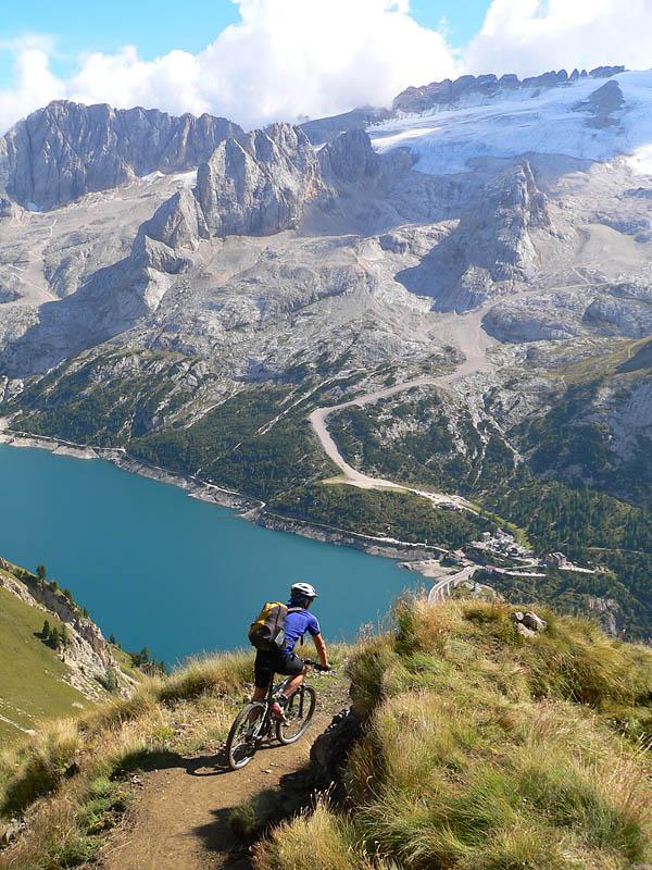 Blick auf den Lago di Fedaia