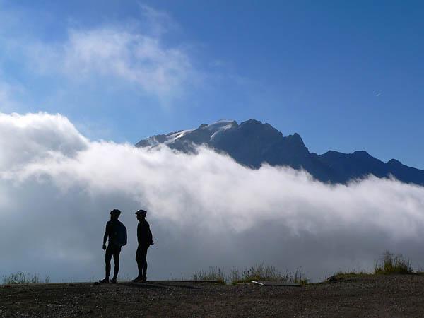 Nebel vor der Marmolata