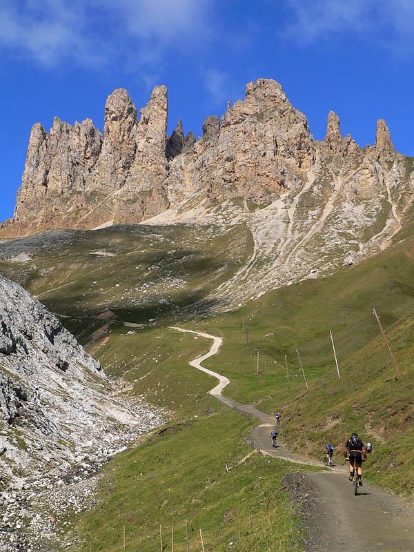 die Rampe zur Tierser Alphütte