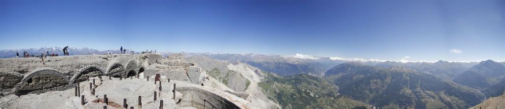 Panorama auf dem Mont Chaberton, Val Susa  3131 m